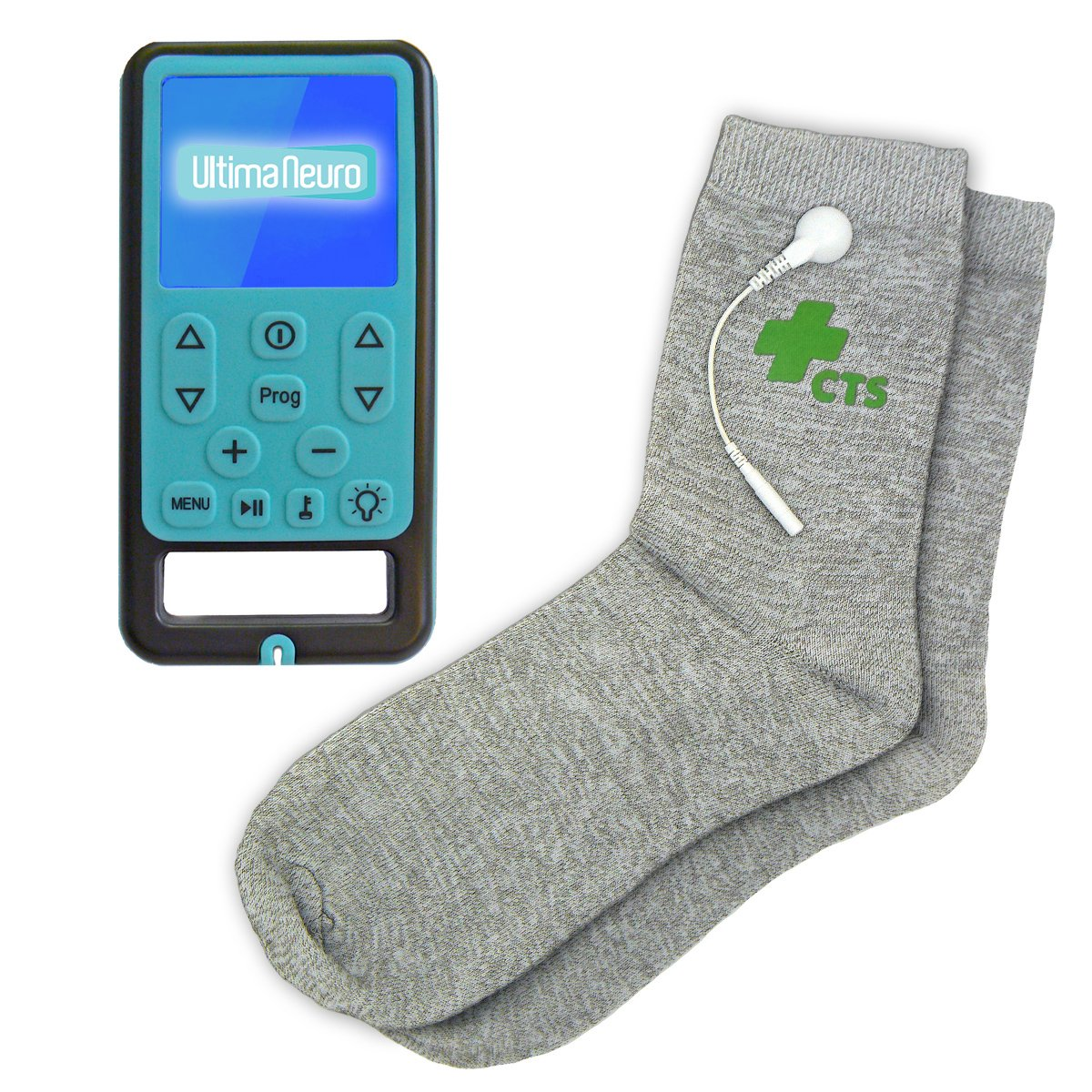 Ultima Neuro Neuropathy Feet System for Treatment & Relief of Peripheral, Diabetic & Poly Neuropathy Nerve Pain with Conductive Socks Pair by Conductive Therapy Shop