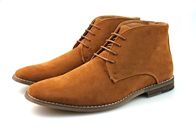7cd1afad04d8c Mens Black Navy Blue Tan Chukka Desert Boots Faux Suede Chelsea Winter  Leather Lined All Sizes