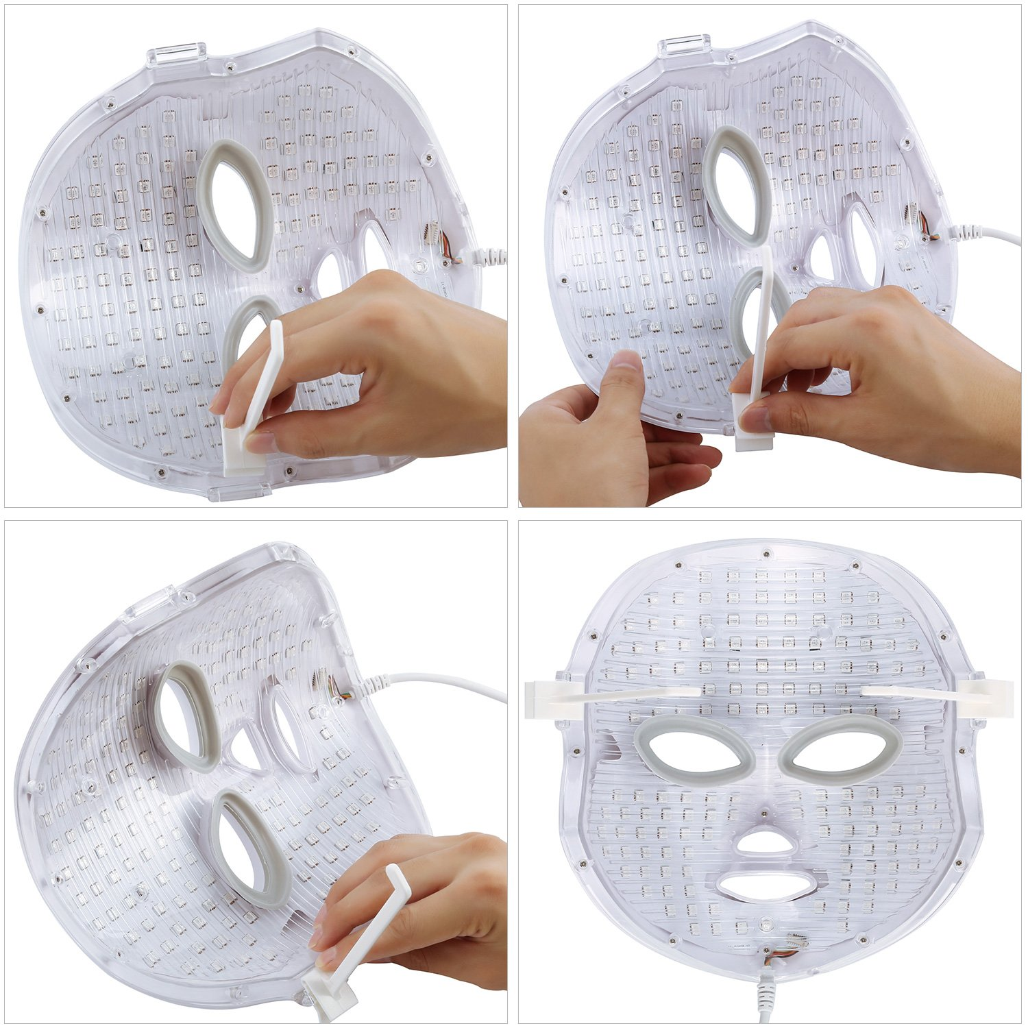 NEWKEY LED Photon Light Therapy Facial Mask Professional Anti Aging Skin Care Device for Face Whitening and Smooth - 1 YEAR WARRANTY by NEWKEY (Image #6)