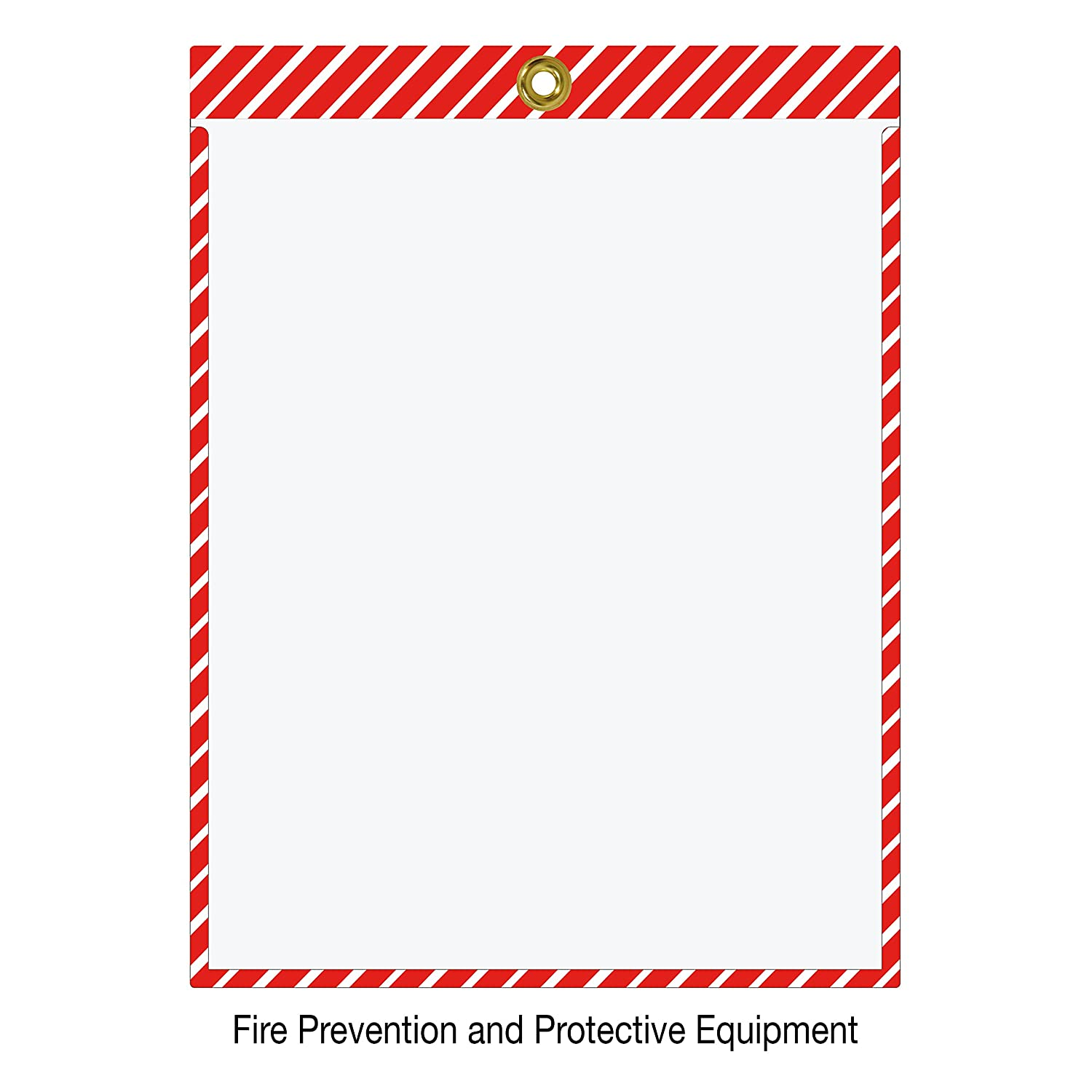 Striped Job Ticket Holders - Pack of 30 Black and White Stripes This color combination is commonly used to designate Housekeeping and Aisle ID. Top-loading with Brass Eyelet