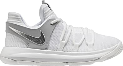 brand new df34a 6f8aa Nike Kids KD X Pre-School Basketball Shoe (1) White Silver