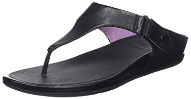 33f60b84e FitFlop Women s Gladdie Toe Post¿ Black Sandal