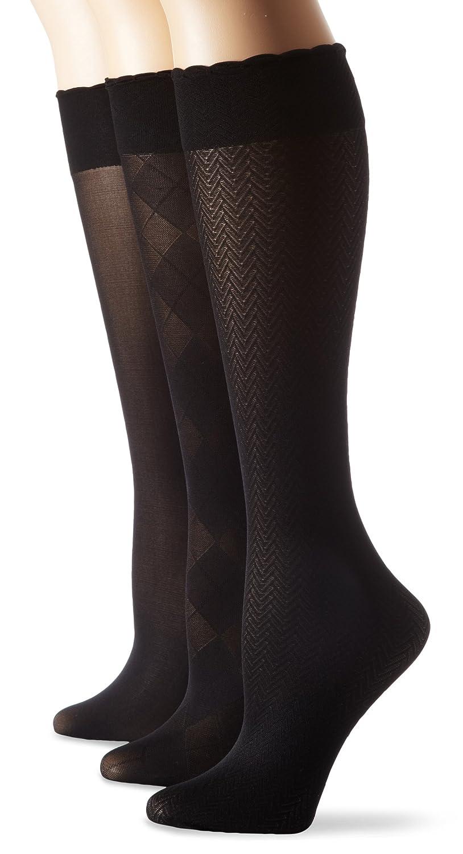 Ellen Tracy Women's 3 Pair Assorted Trouser Sock Pack