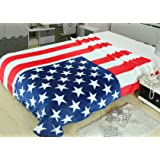 """King's deal- Tm Bed Blanket:79""""x 59 """" Super Soft Warm Air Conditioning Throw Blanket for Bedroom Living Rooms Sofa,oversized Travel Throw Cover (Usa Flag1)"""