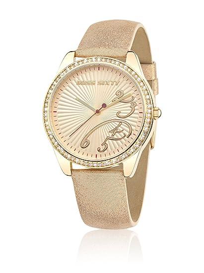 Miss Sixty R0751116501 - Reloj, correa de cuero color dorado: Amazon.es: Relojes