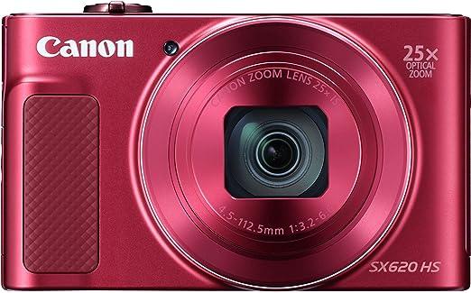30 opinioni per Canon SX620 HS PowerShot Fotocamera Digitale Compatta, Rosso [Versione Canon