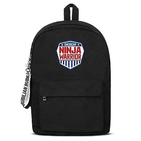 Amazon.com : WUSIMEI American-Ninja-Warrior-Logo- Backpacks ...