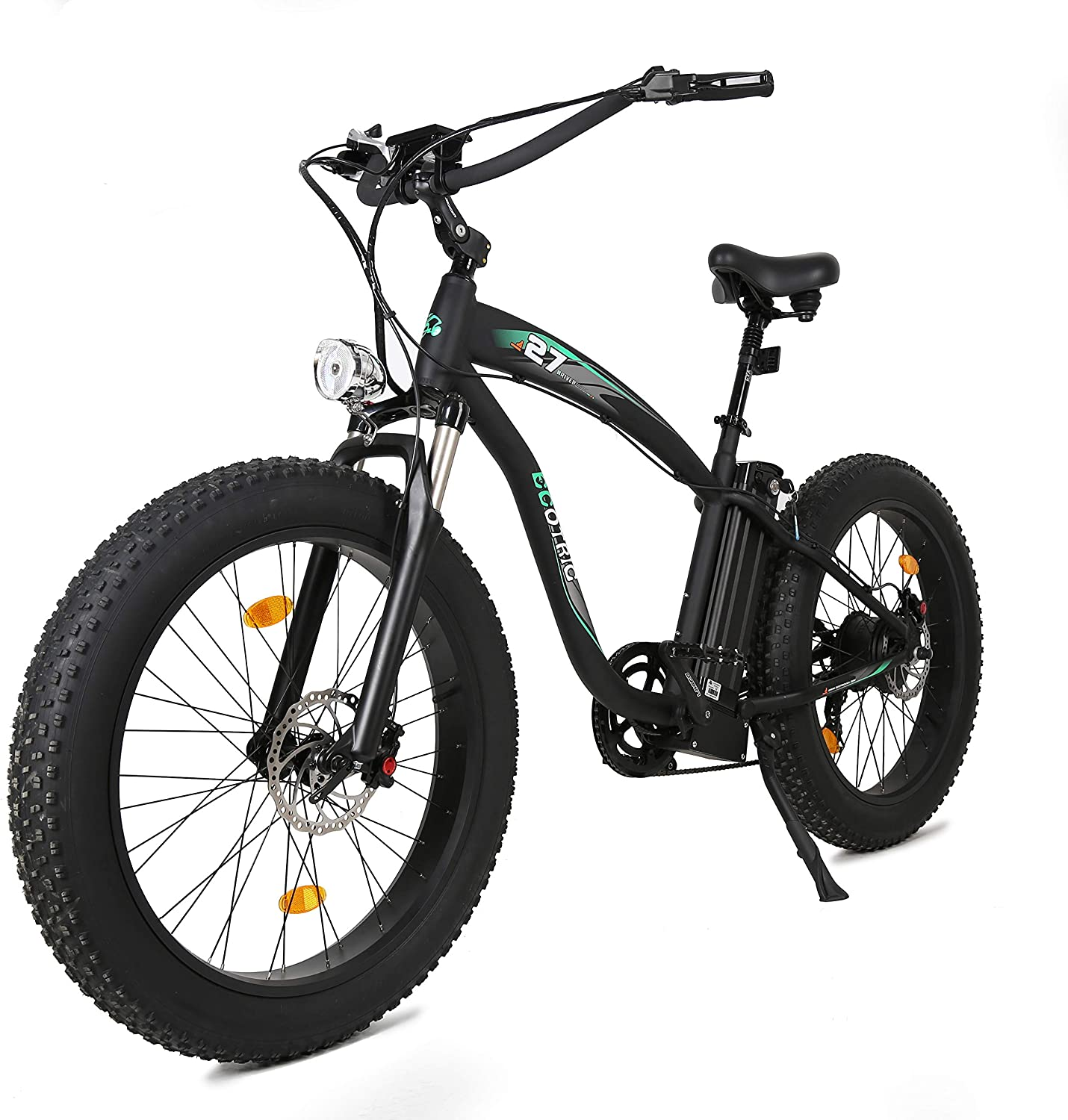 ECOTRIC Fat Tire Electric Bike Beach Snow Bicycle 4.0 inch Fat Tire 26 Powerful 48V 13Ah ebike Electric Mountain Bicycle with Shimano 7 Speeds
