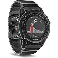 Garmin Fenix 3 Sapphire Gray HR - Montre GPS Multisports Outdoor avec Cardio Poignet - Bracelet Métal