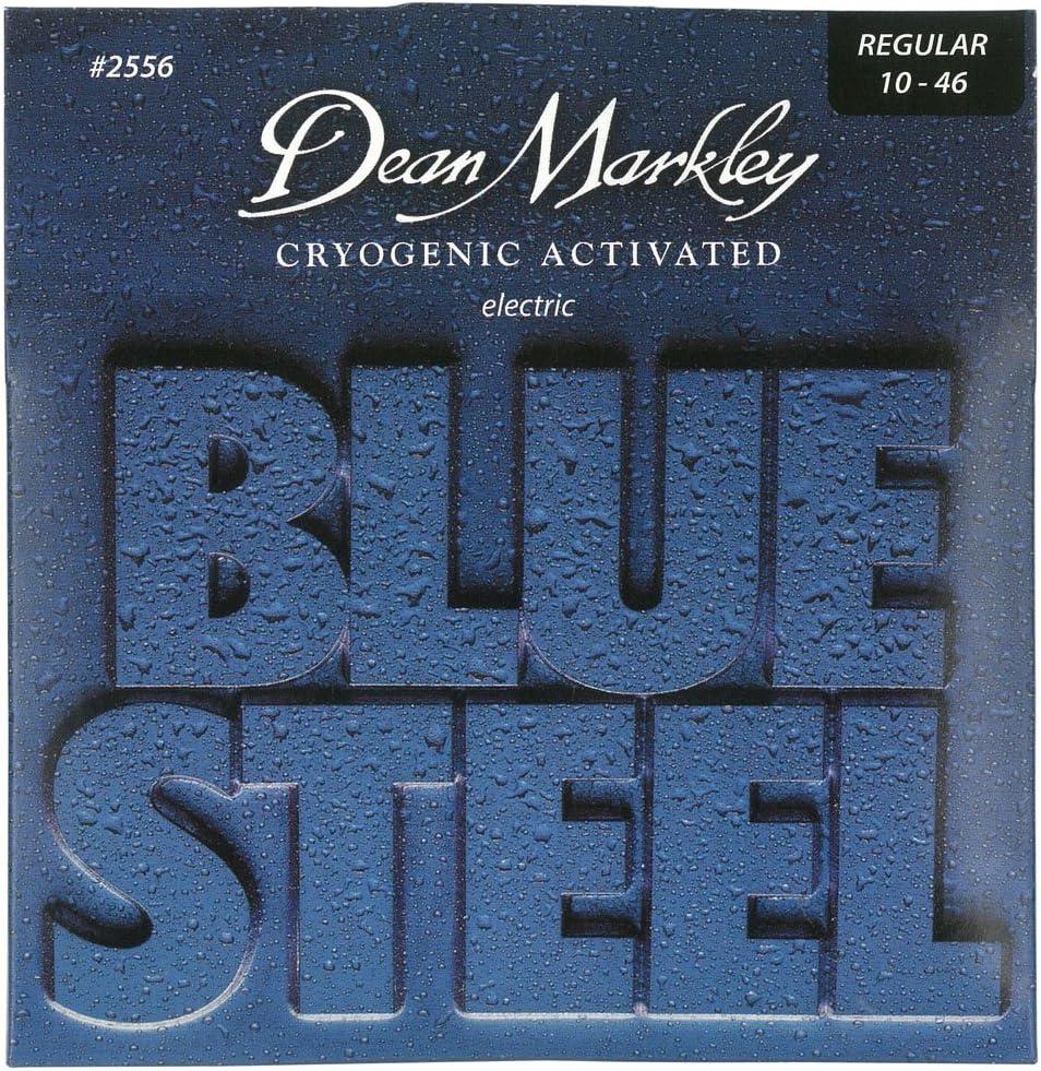 Dean Markley Blue Steel Electric REG 2556 - Juego de cuerdas para guitarra eléctrica de acero.010 - .046
