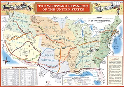 Amazon.com: Historic Map | The Westward Expansion of The ...