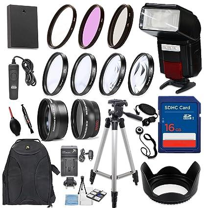 58 mm 17 piezas Kit de accesorios para Canon EOS Rebel T6, T5, T3 ...