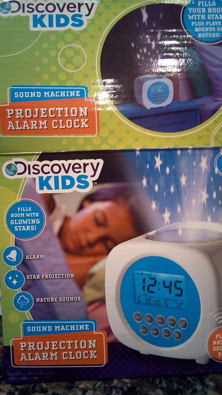 Discovery Kids Sound Machine Projection Alarm Clock