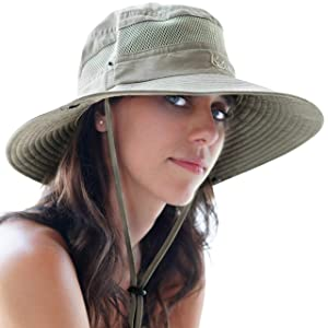 GearTOP Fishing Hat, Safari Cap with UPF 50 Sun Protection for Men and Women