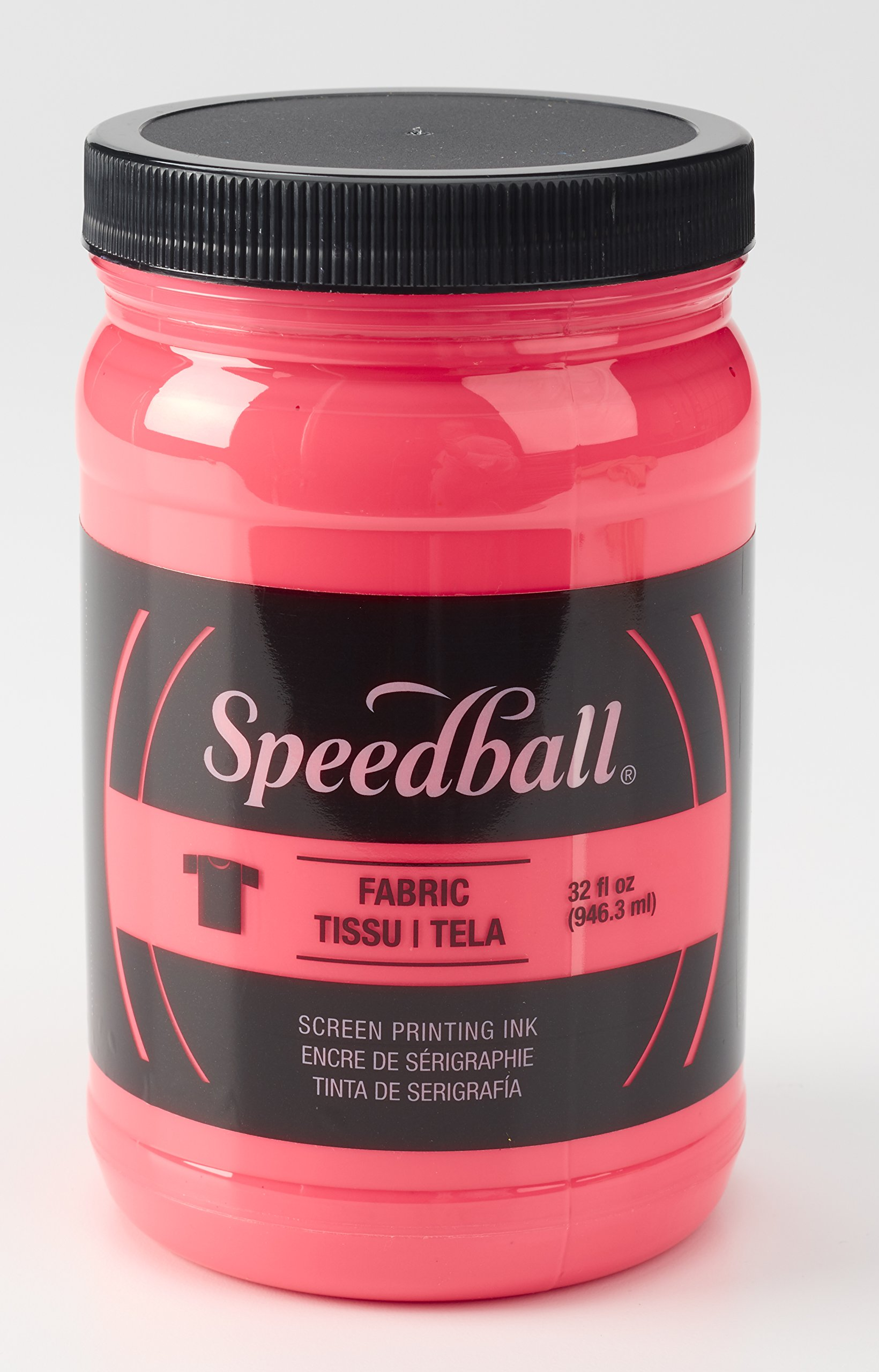 Speedball 004693 Fluorescent Screen Printing Ink, 32 Fl. oz, Hot Pink by Speedball