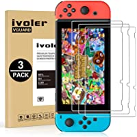 [3 Pack] Screen Protector Tempered Glass for Nintendo Switch, iVoler Transparent HD Clear Anti-Scratch Screen Protector…