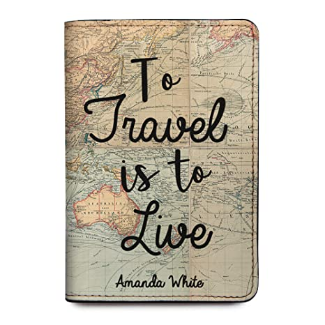 bc43d1c1bbfa Personalized Leather Passport Holder Cover - Customized Travel Gift With  Quotes