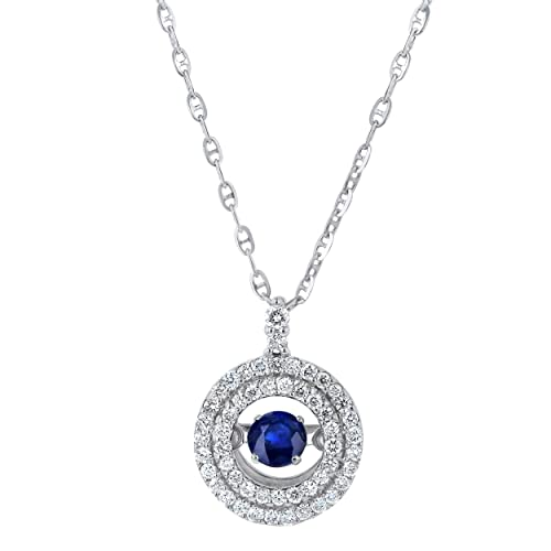 Necklaces Pendants Platinum-Plated Sterling Silver Celebrity Kate made with Swarovski Zirconia Accents Pendant Necklace 16+2 Extender