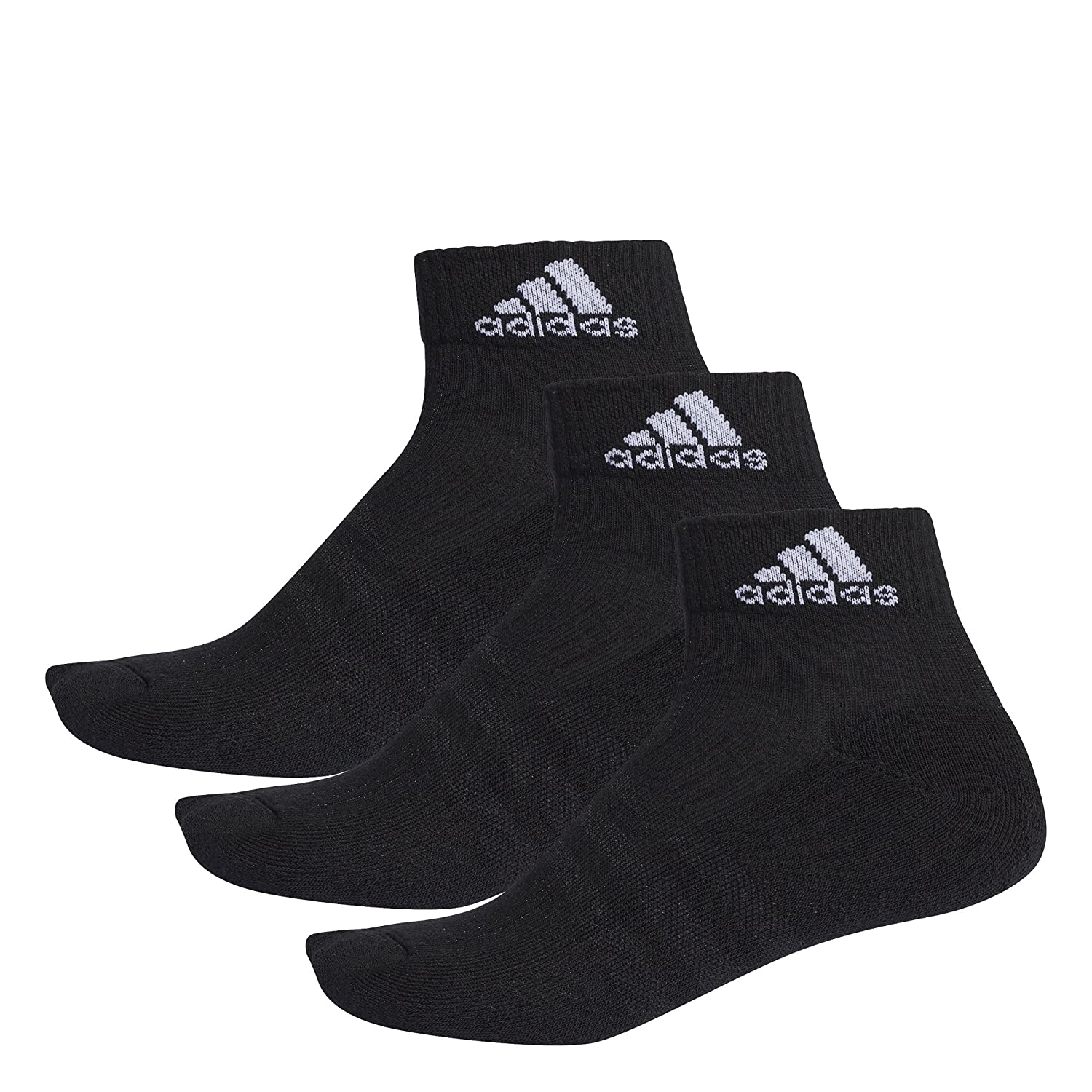adidas Unisex 3-Stripes Performance Ankle Socks (Pack of 3 Pairs) AA2286