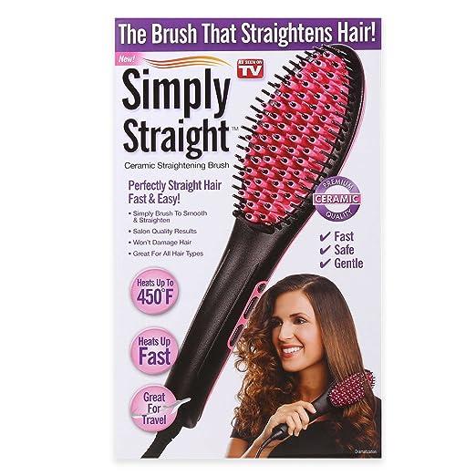 New! Simply Straight Ceramic Straightening Brush - As Seen On TV!!!