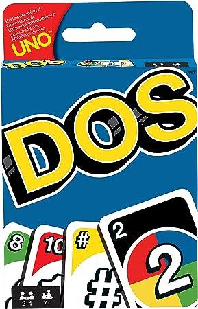 Mattel Games DOS, juego de cartas de UNO, edad recomandada 7 - 10 años (Mattel FRM36): Amazon.es: Juguetes y juegos