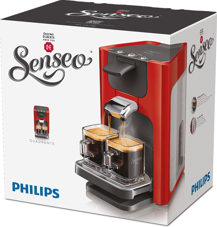 Philips Senseo Quadrante - Cafetera monodosis, color rojo (importada): Amazon.es: Hogar
