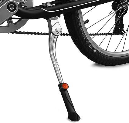 "Supermotorparts Non-slip Double Leg Center Mount Bike MTB Road Bike Kickstand Aluminum Lightweight Metal Adjustable 24-28/"""