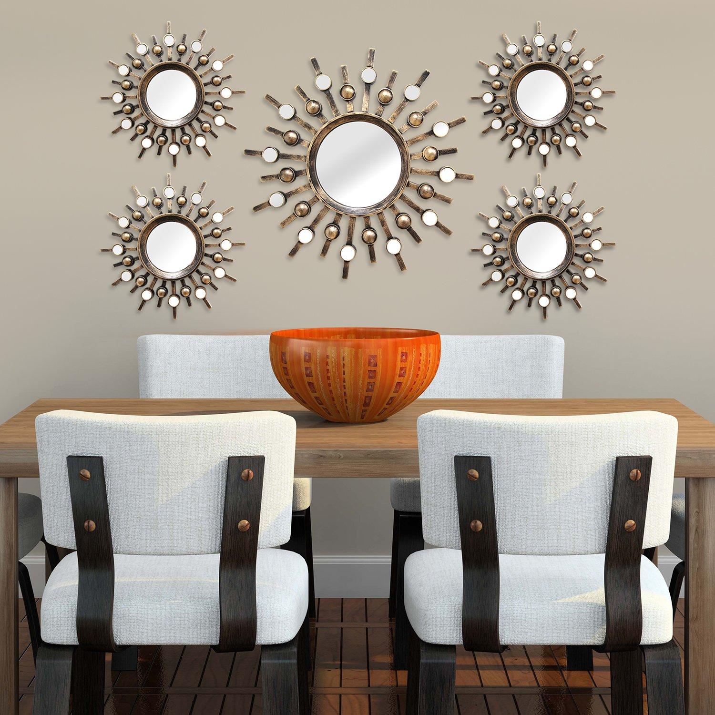 Amazon Stratton Home Decor SHD0087 5 Piece Burst Mirrors