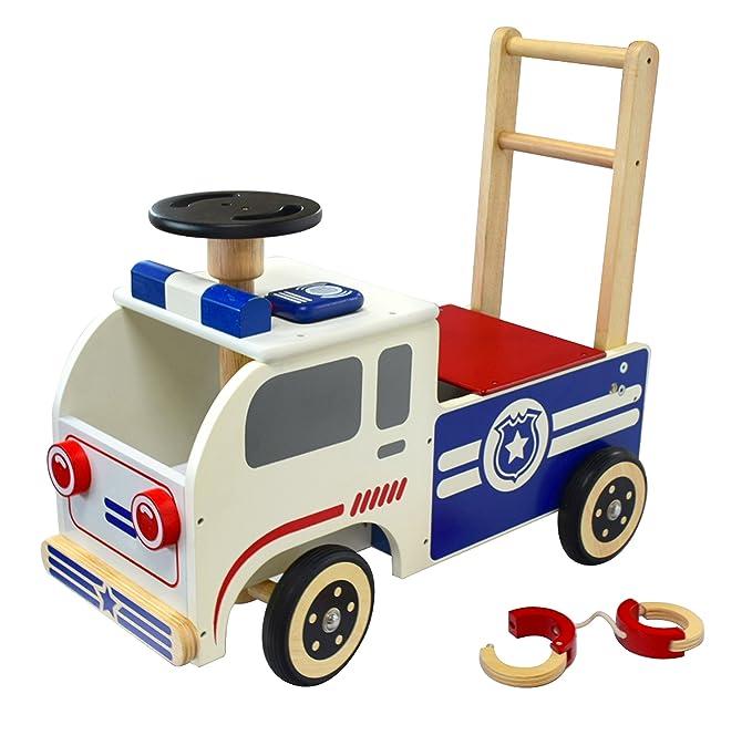 Holz Lauflernwagen Polizei - I'm Toy Schiebeauto Polizei