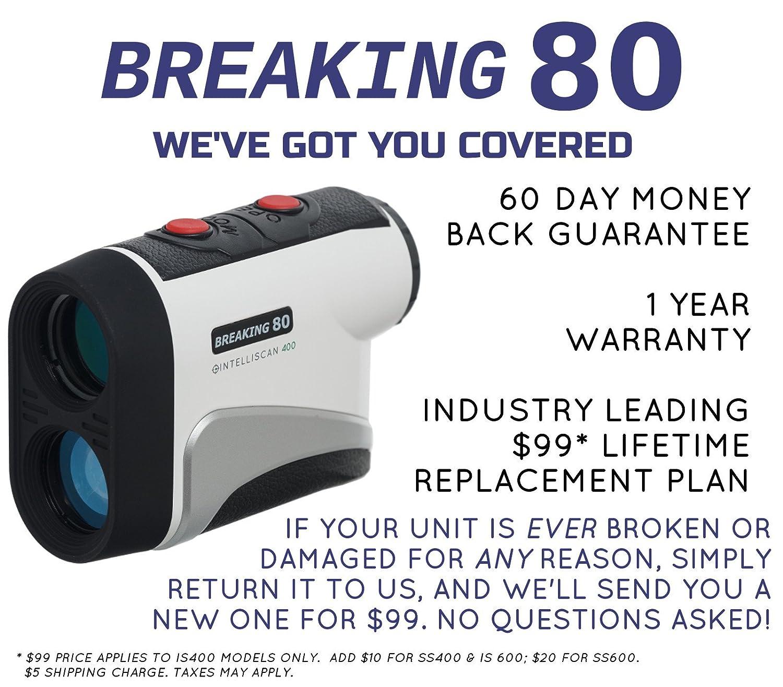 amazon com breaking 80 is400 golf rangefinder black sports