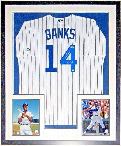 c7d8ec1e9 Image Unavailable. Image not available for. Color  Ernie Banks Autographed  Signed Memorabilia Cubs Jersey ...