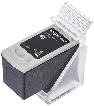 AmazonBasics - Cartucho de tinta regenerado, Canon PG-40, negro: Amazon.es: Oficina y papelería