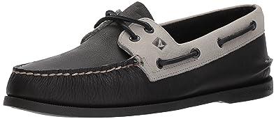 9ef7aad5821 Sperry Men s A O 2-Eye Daytona Boat Shoe Black Grey 7 Medium