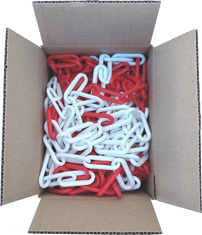 SNS SAFETY LTD Cadena Plástico de Señalización 6 mm (Rojo y Blanco, 12,5 Metros)