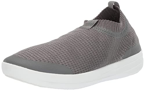 classic shoes best quality great fit FitFlop Women Uberknit Slip-on Sneakers-Metallic Hi-Top Trainers