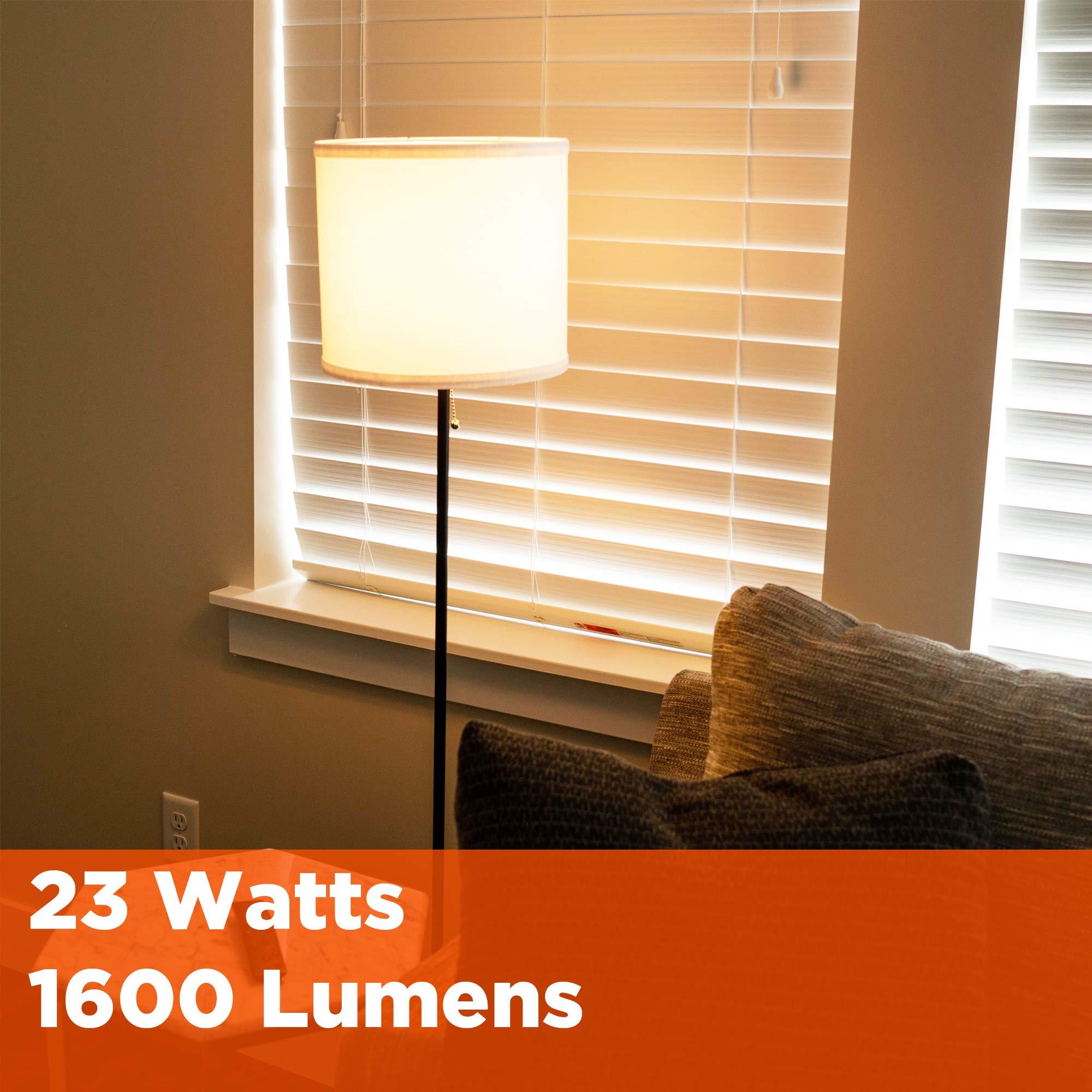 GoodBulb 23 Watt CFL Light Bulbs - T2 Spiral Compact Fluorescent - GU24 Light Bulb Base - 2700K 1600 Lumens - 4 Pack by GoodBulb (Image #6)