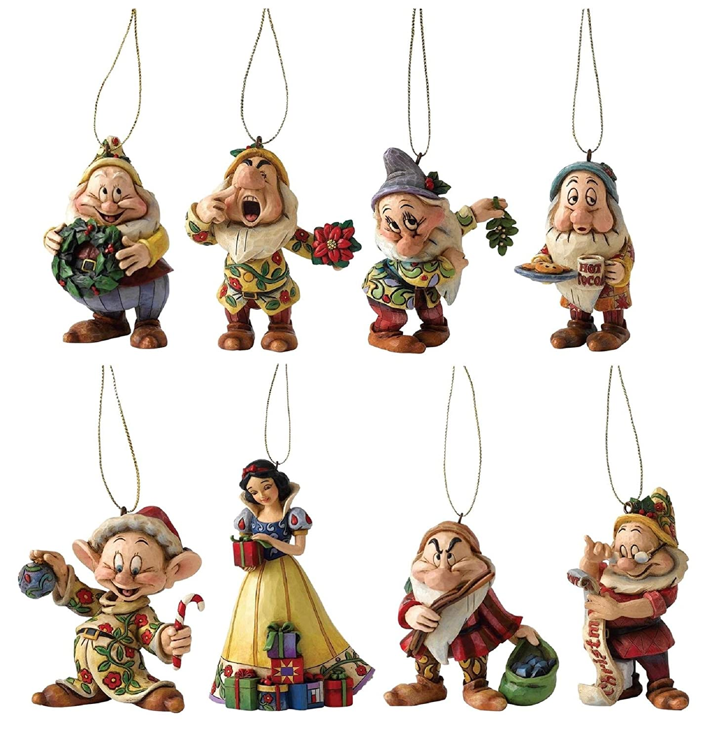 disney showcase collection snow white the seven dwarfs christmas tree decorations by jim shore amazoncouk kitchen home
