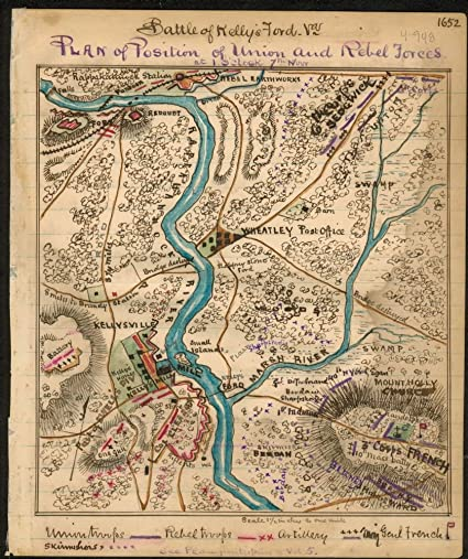 Amazon.com: Vintage 1861 Map of Battle of Missionary Ridge or