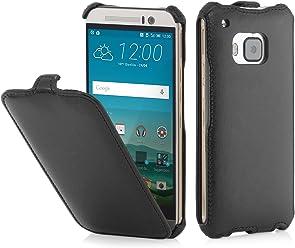 StilGut® SlimCase, Housse, Coque, étui pour HTC One M9, Noir Vintage