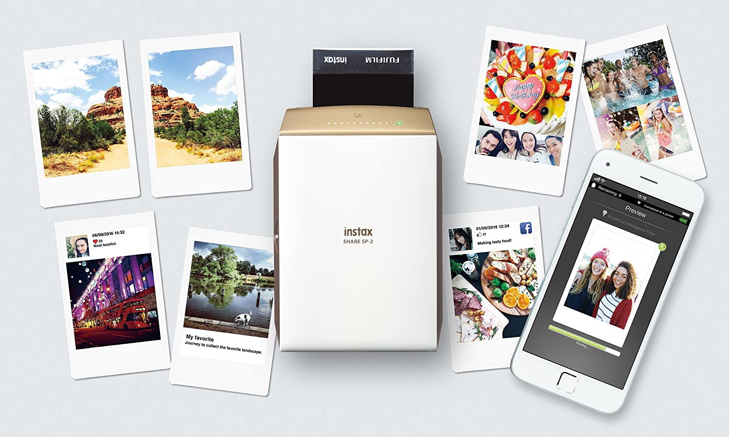 $150.21(was $199.99) Fujifilm Instax Mini Share Printer SP2 Gold