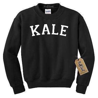 316973858de9b0 Kale Sweatshirt Crew Neck Sweater Pullover - Premium Quality (Small, Black)
