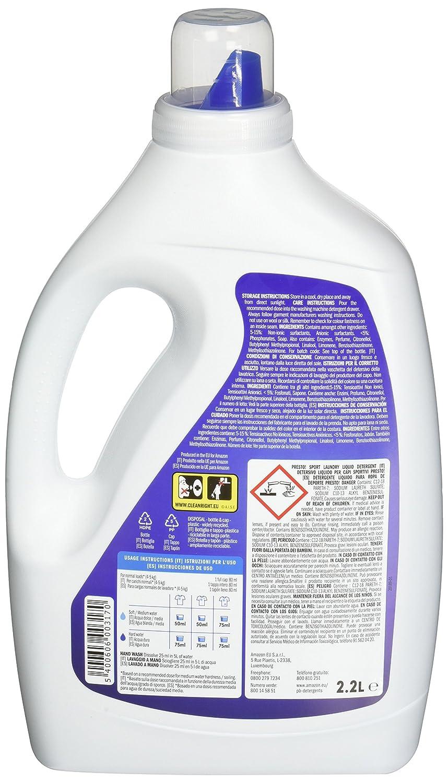 Marca Amazon - Presto! Detergente líquido sport, 176 lavados (4 Packs, 44 cada uno): Amazon.es: Salud y cuidado personal