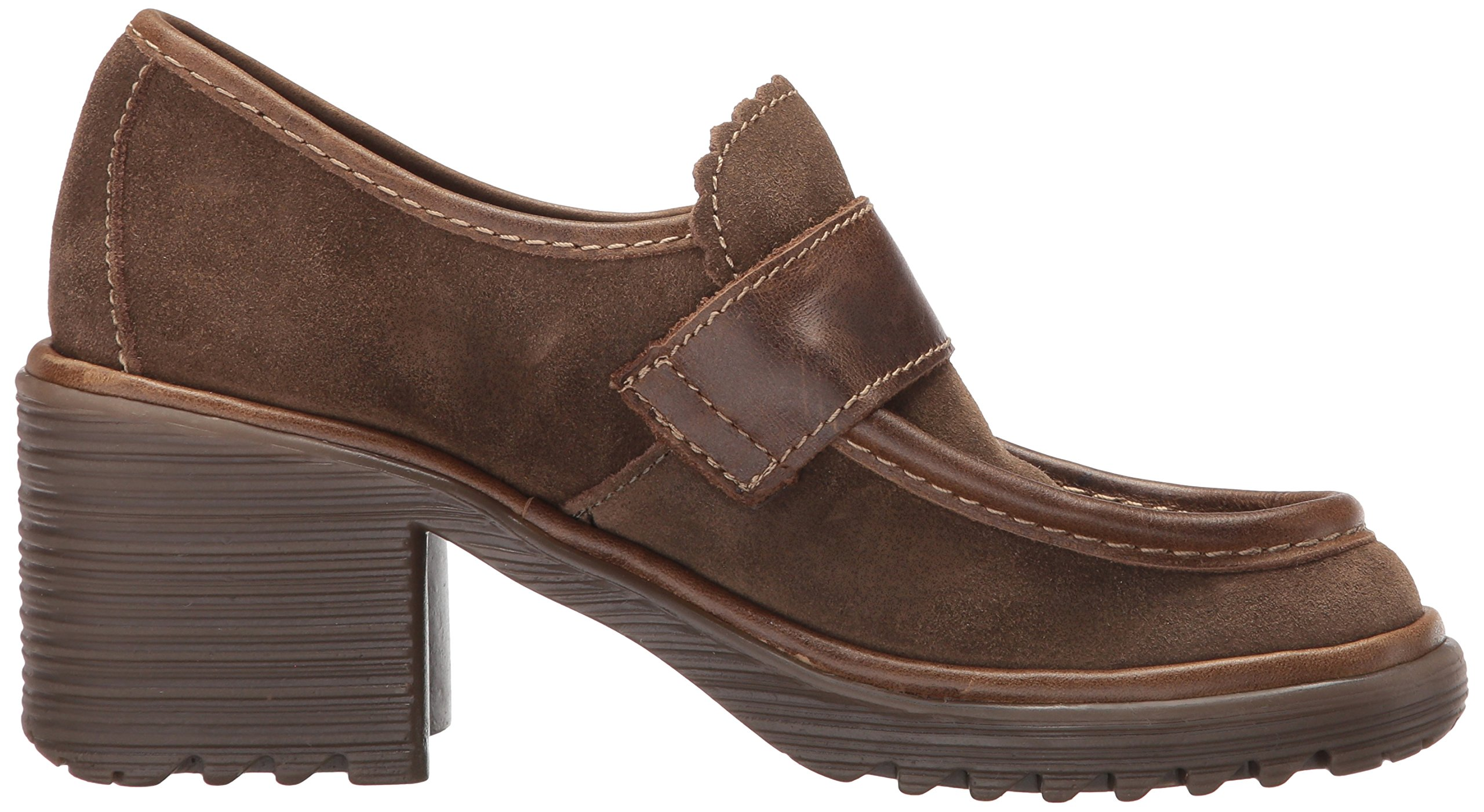 FLY London Women's WEND764FLY Penny Loafer, Sludge/Olive Oil Suede/Rug, 39 M EU (8-8.5 US) by FLY London (Image #7)