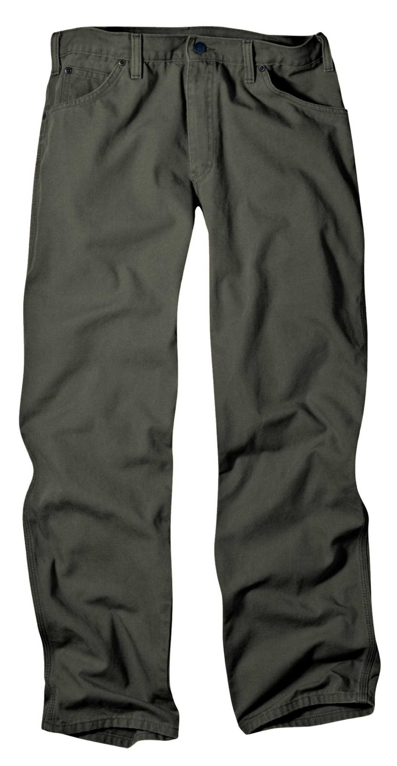 Dickies Men's Relaxed Fit Duck Jean, Moss, 38x30