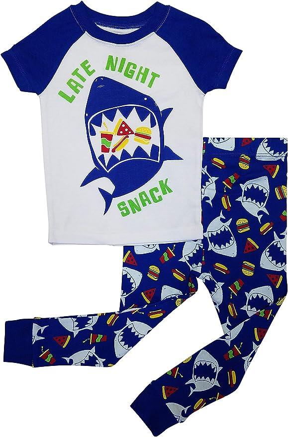 TDP Boys Baby Shark Shorts Pyjamas 12 Months to 4 Years Babywear Red Toddler PJs Loungewear