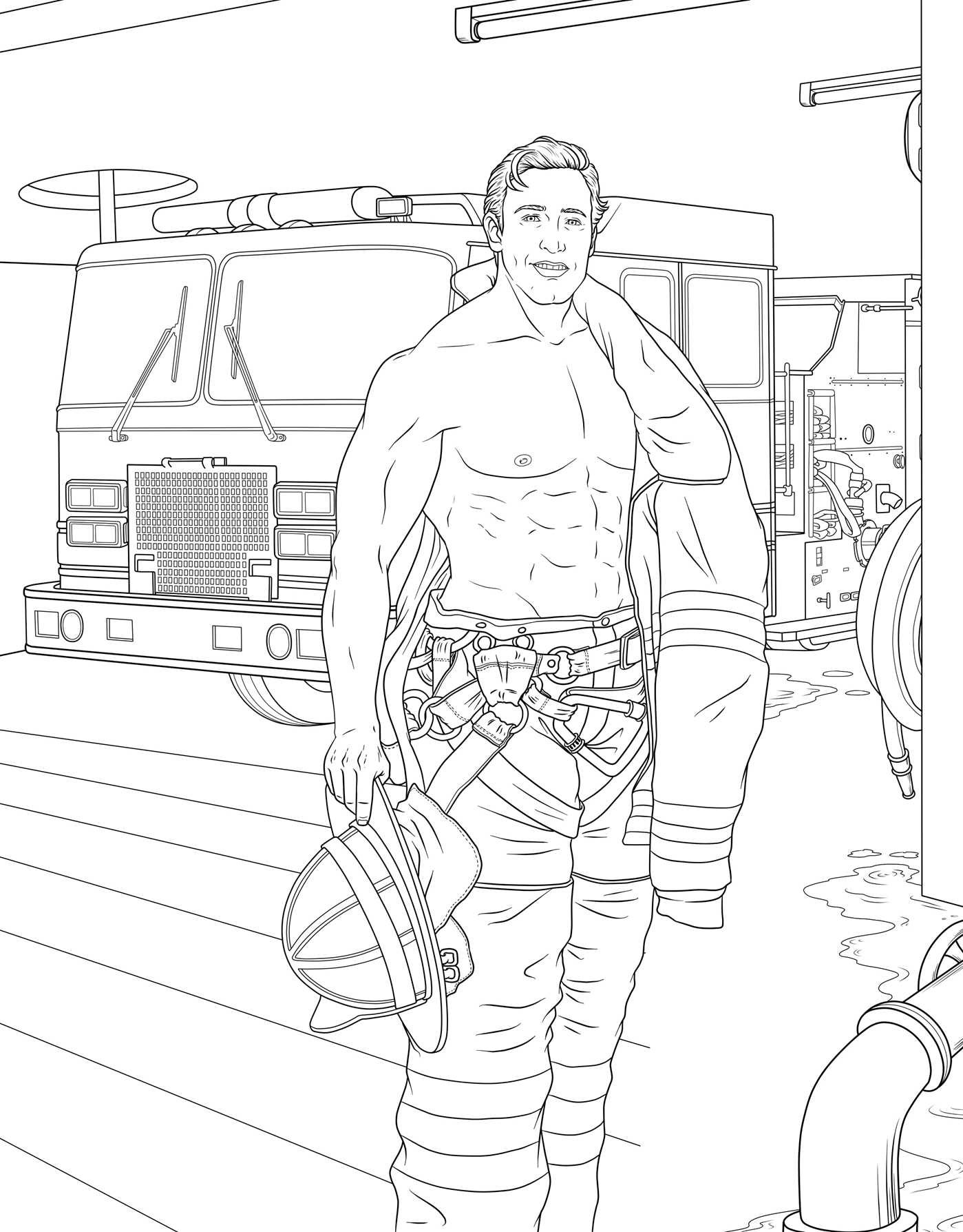 Amazon com men in uniform adult coloring book 9781682611319 m g anthony books