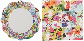Talking Tables Party Pack - Floral Fiesta Paper Plates \u0026 Floral Fiesta Amuse Bouche Napkin  sc 1 st  Amazon.com & Amazon.com: Talking Tables Party Pack - Floral Fiesta Paper Plates ...