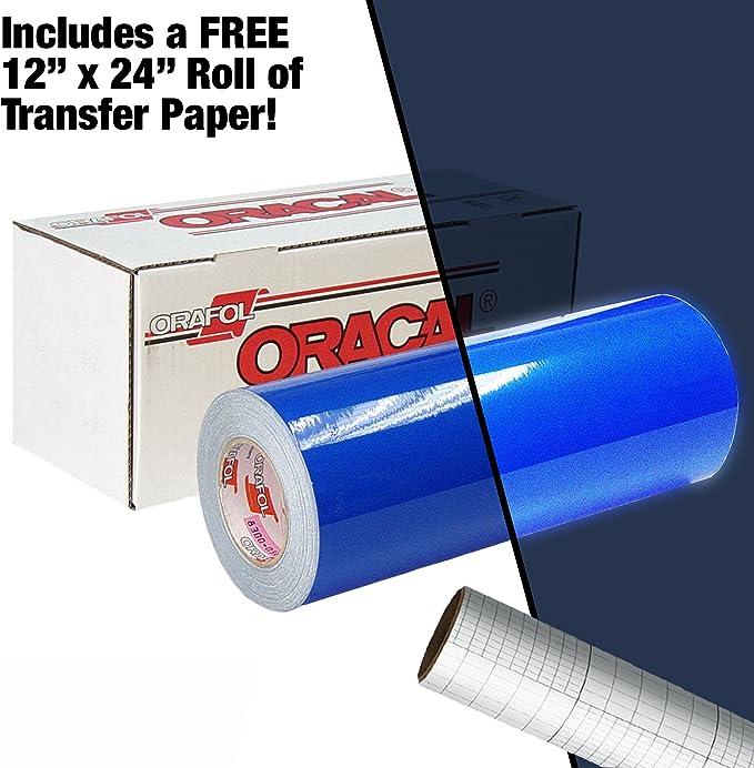 Your Design Oracal azul reflectante vinilo adhesivo para 12