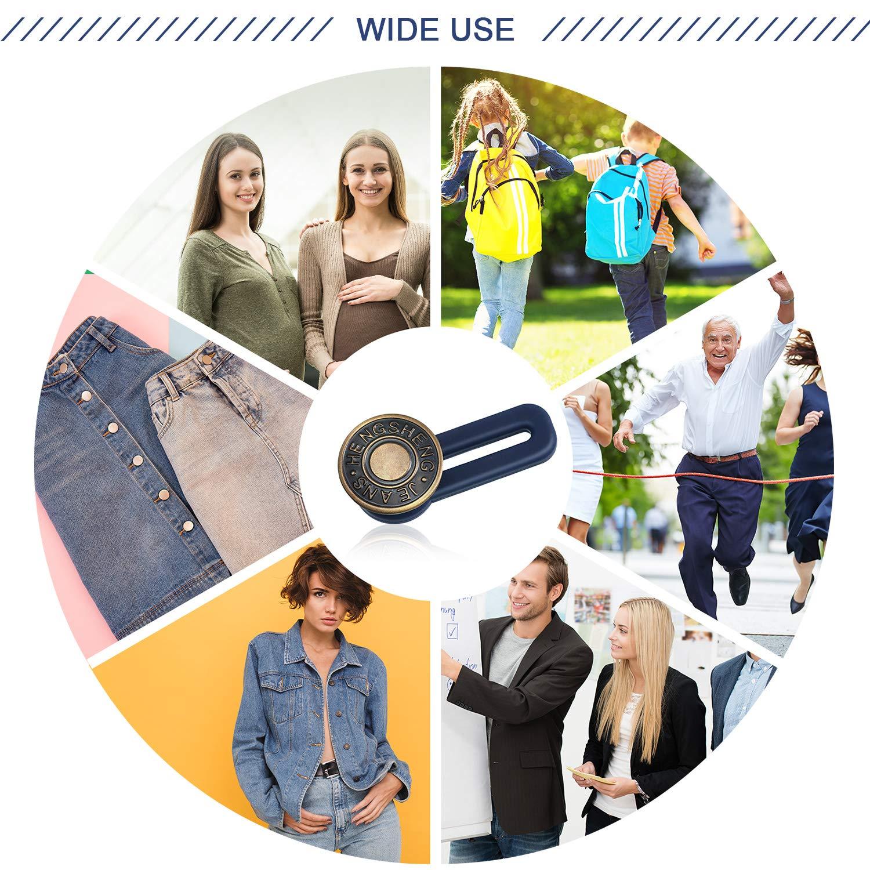 Button Waist Extender Waistband Extender Pants Waist Extender for Jeans Skirts Trousers Collars Men Women Favors 12 12 Styles