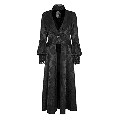 075fe8acbd90 Punk Rave Women s Black Victorian Gothic Vintage Long Coat Party Jacket for  Custome (X-